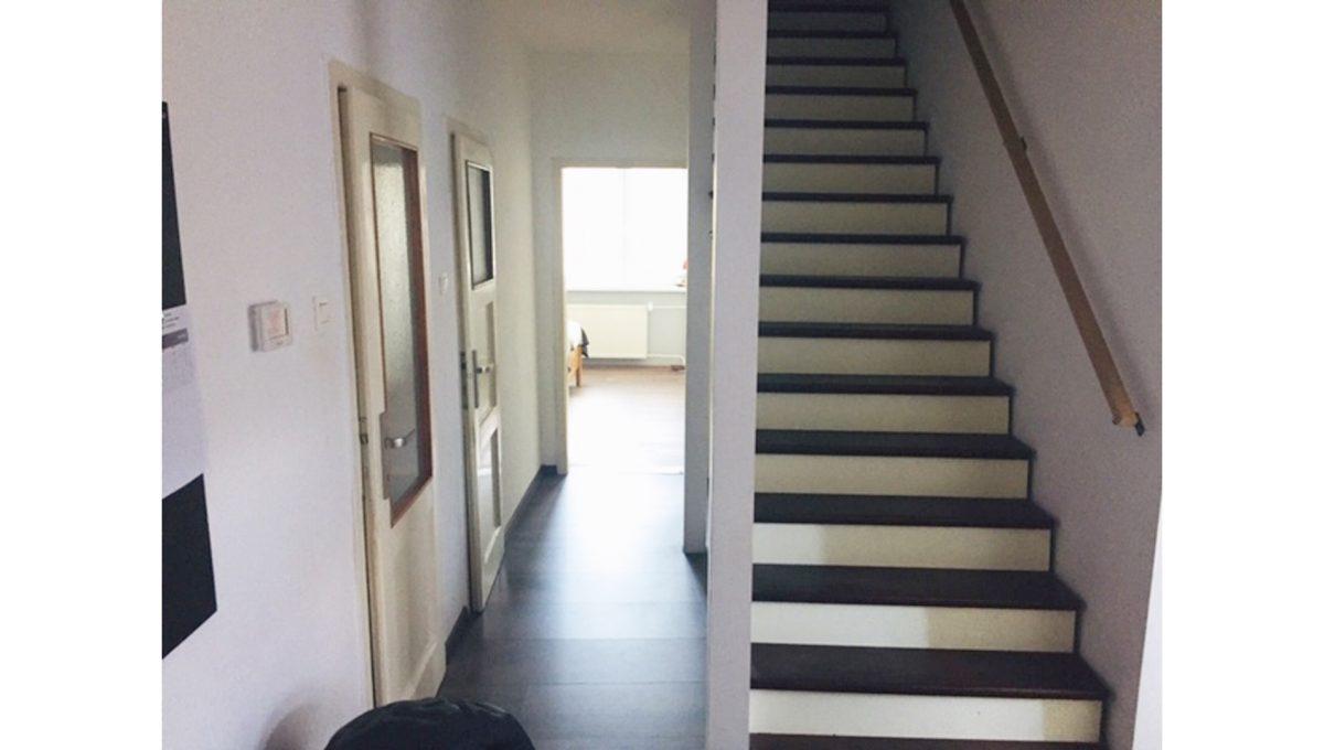 Konfido Tomasov ponuka dvoch samostatnych domov pohlad na chodbu domu so schodiskom