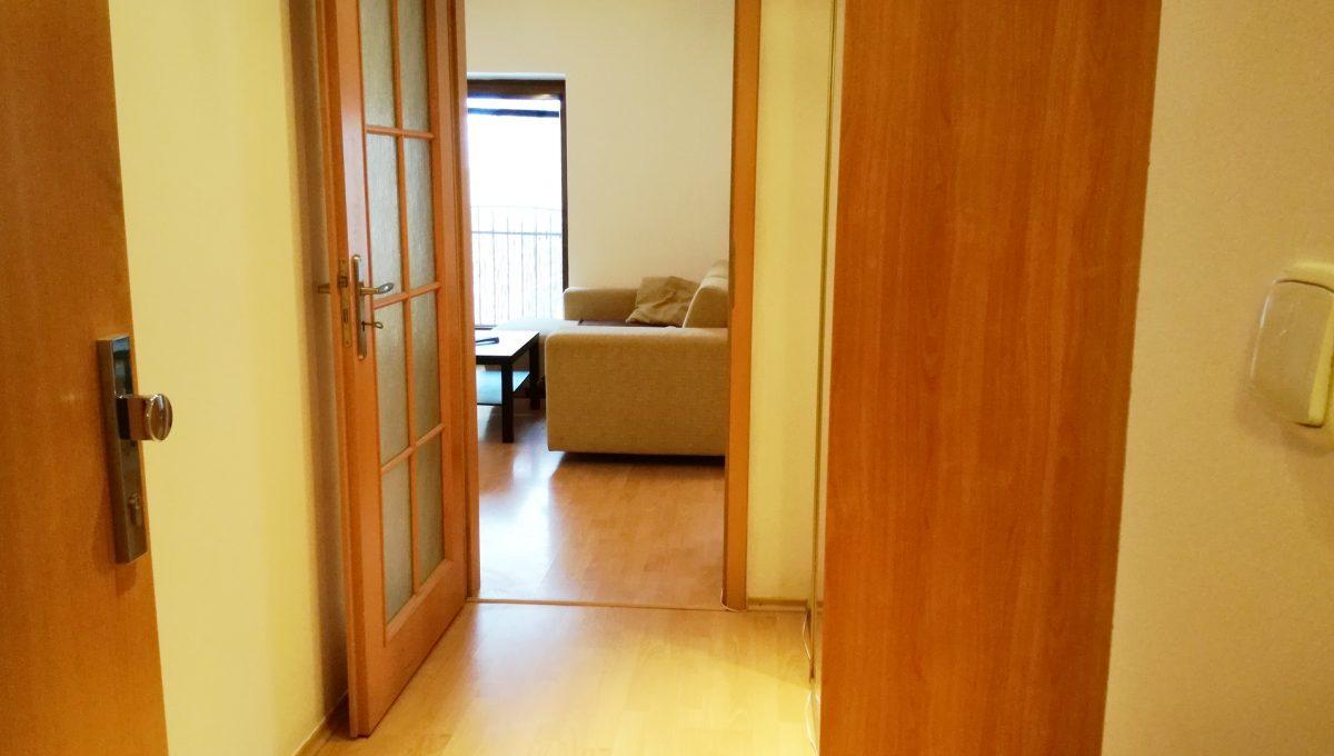 Bernolakovo-09-Obilna-ulica-mensi-2-izbovy-byt-na-prenajom-pohlad-od-vstupnych-dveri-smerom-do-chodby-a-casti-obyvacej-izby