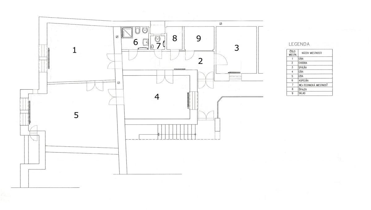 Bratislava Heydukova 19 4 izbovy byt v centre mesta podorys bytu