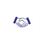 Podanie rúk ako znak služby predaj
