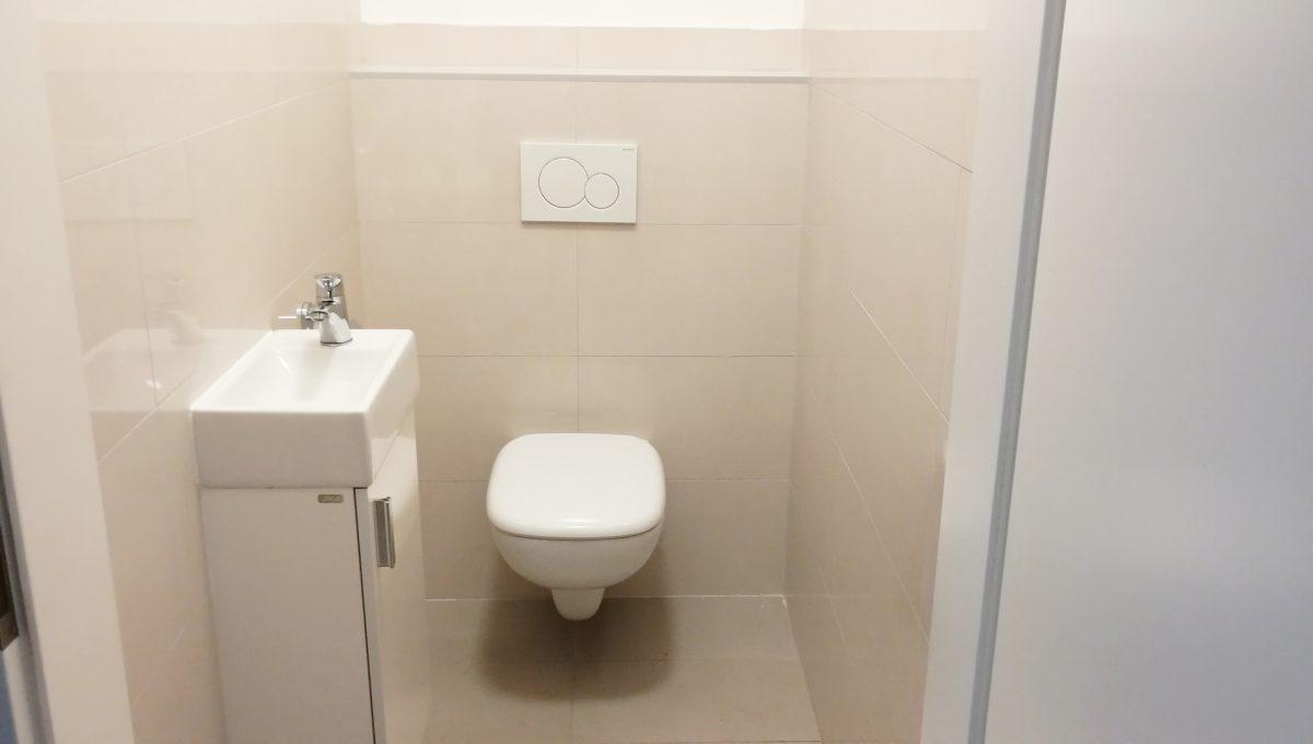 Dunajska Luzna 10 3 izbovy byt s lodziou v novostavbe pohlad na samostatnu toaletu s umyvadlom