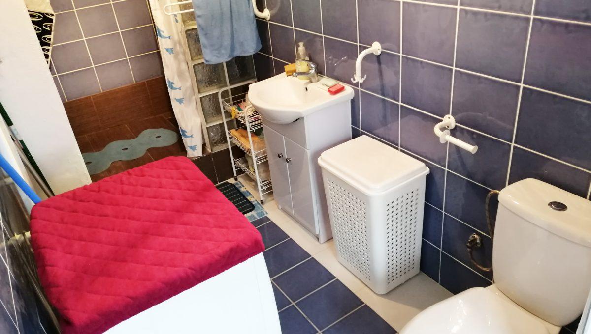 Gabcikovo 22 rodinny dom na predaj 3 izbovy pohlad na kupelnu so sprchovym kutom a toaletou v letnej kuchynke