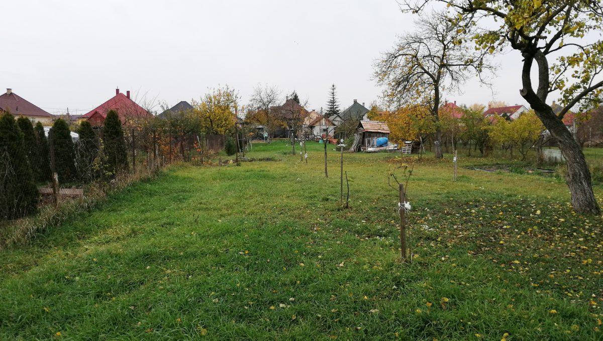 Gabcikovo 28 rodinny dom na predaj 3 izbovy pohlad na celu zahradu smerom na dom z konca pozemku