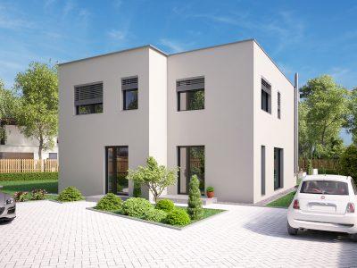 Hruba-Borsa-01-Konfido-predaj-dvojdom-novostavba-3-izbovy-rodinny-dom-pri-golfovom-ihrisku-vizualizacia-spolu-predna