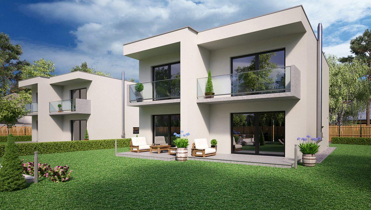 Hruba Borsa 02 Konfido predaj dvojdom novostavba 4 izbovy rodinny dom pri golfovom ihrisku vizualizacia zadna prava sirsi pohlad