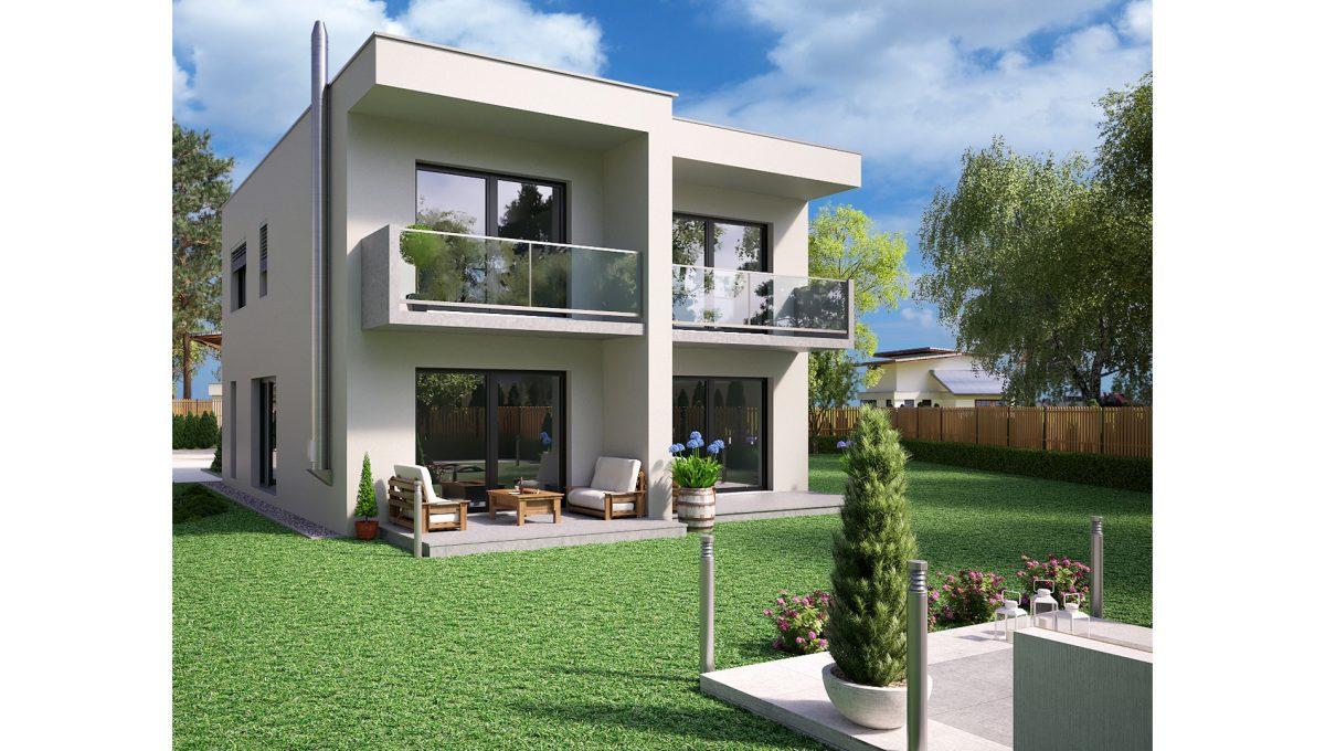 Hruba Borsa 03 Konfido predaj dvojdom novostavba 3 izbovy rodinny dom pri golfovom ihrisku vizualizacia zadna lava