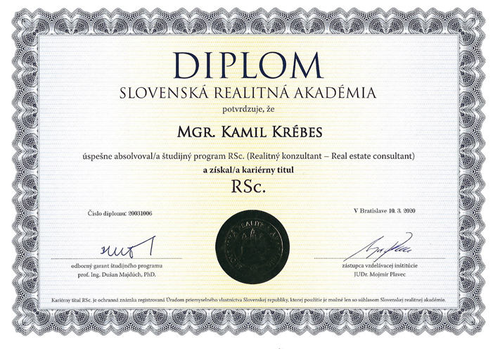 Diplom Mgr. Kamil Krébes, RSc.