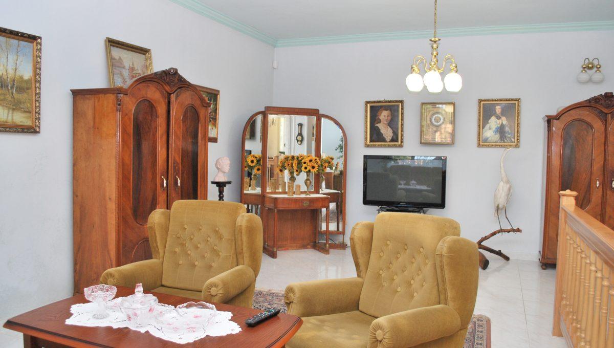 Olca 09 okres Komarno velka rodinna vila s velkym pozemkom a jazierkom cast spolocenskeho priestoru so sedenim na poschodi