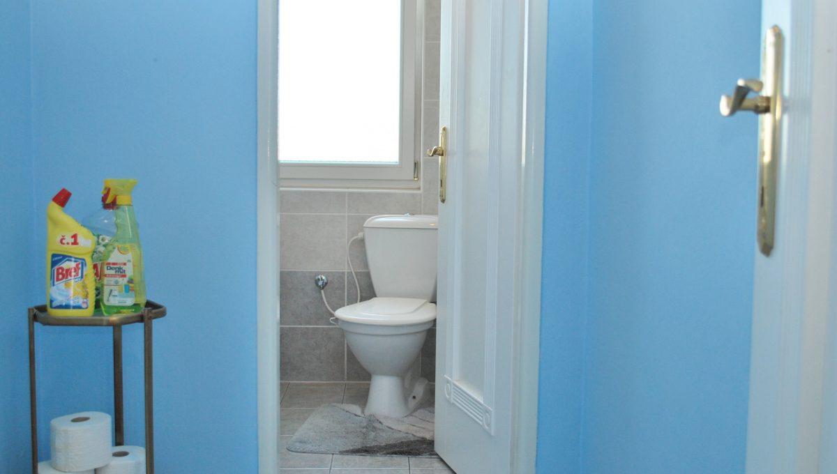 Olca 24 okres Komarno velka rodinna vila s velkym pozemkom a jazierkom pohlad na samostatnu toaletu wc na poschodi