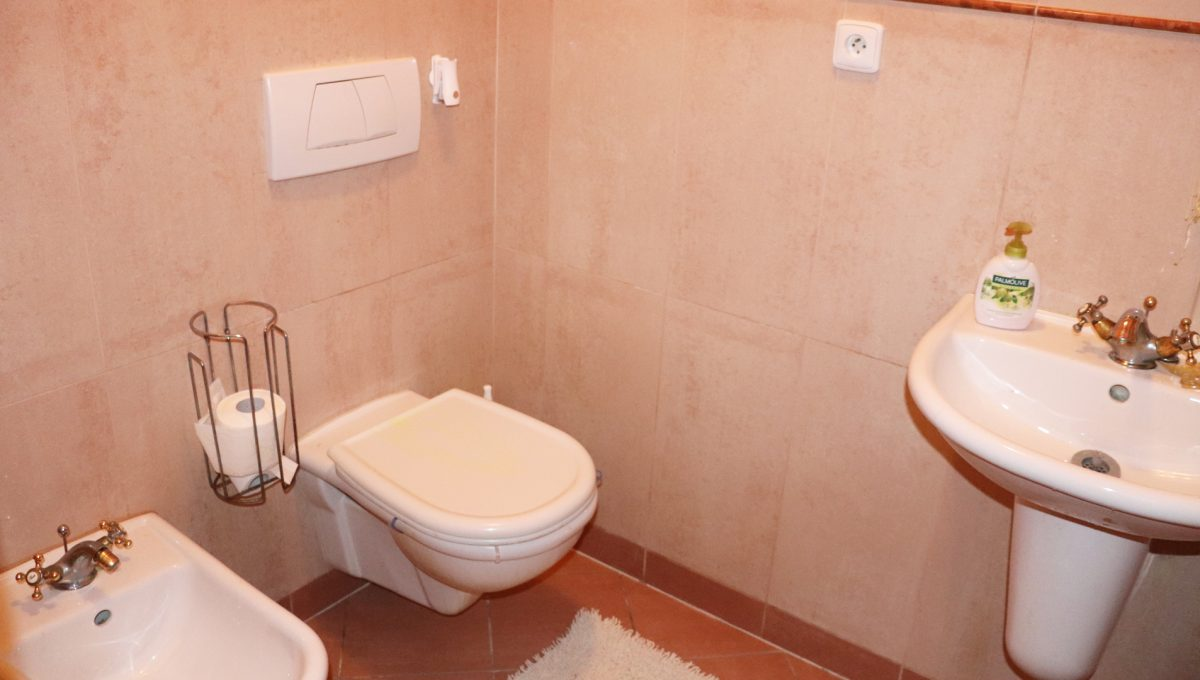 Samorin 39 Bratislavska ulica rodinny dom 5 izbovy pohlad na samostatnu toaletu s umyvadlom v zadnej casti domu