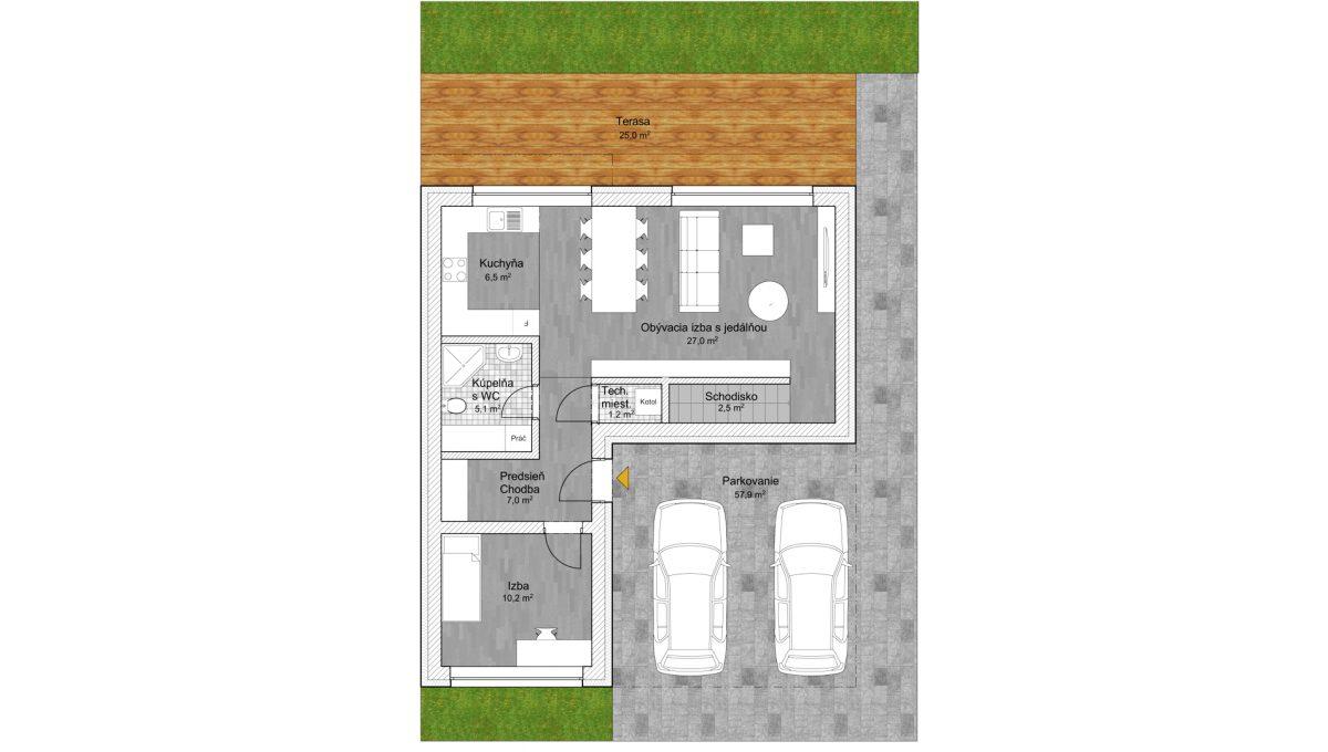 Senec 03 Konfido 4 izbovy rodinny dom na predaj holodom podorys prizemie volny
